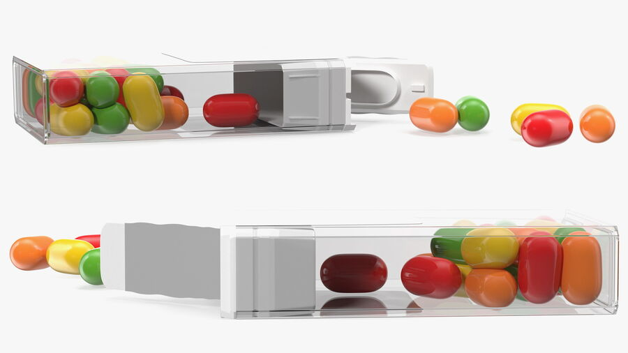 Colorful Candy Mints Spilled royalty-free 3d model - Preview no. 7