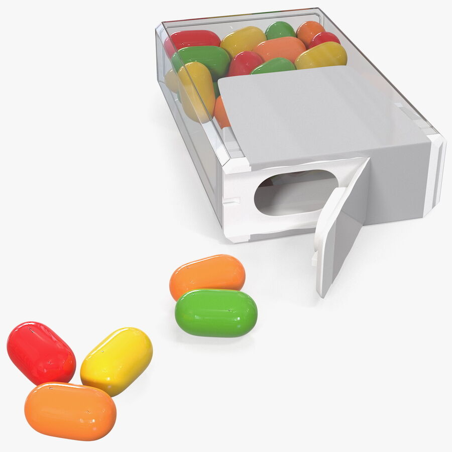 Colorful Candy Mints Spilled royalty-free 3d model - Preview no. 1