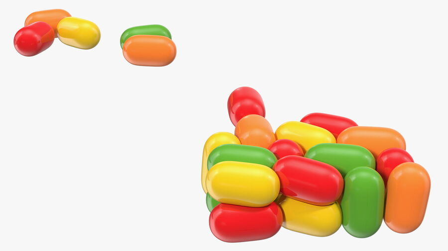 Colorful Candy Mints Spilled royalty-free 3d model - Preview no. 12