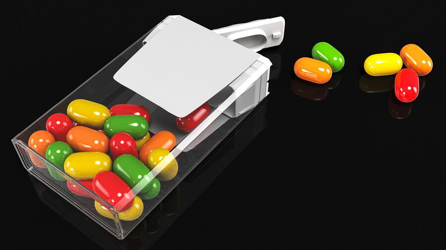 Colorful Candy Mints Spilled royalty-free 3d model - Preview no. 6