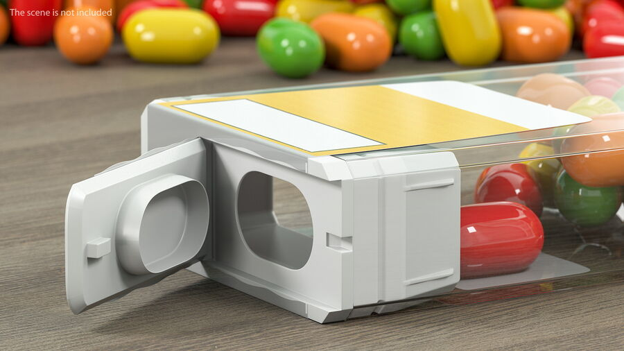 Colorful Candy Mints Spilled royalty-free 3d model - Preview no. 4