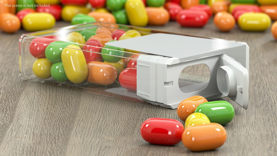 Colorful Candy Mints Spilled royalty-free 3d model - Preview no. 3