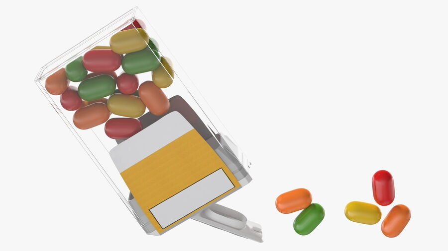 Colorful Candy Mints Spilled royalty-free 3d model - Preview no. 10