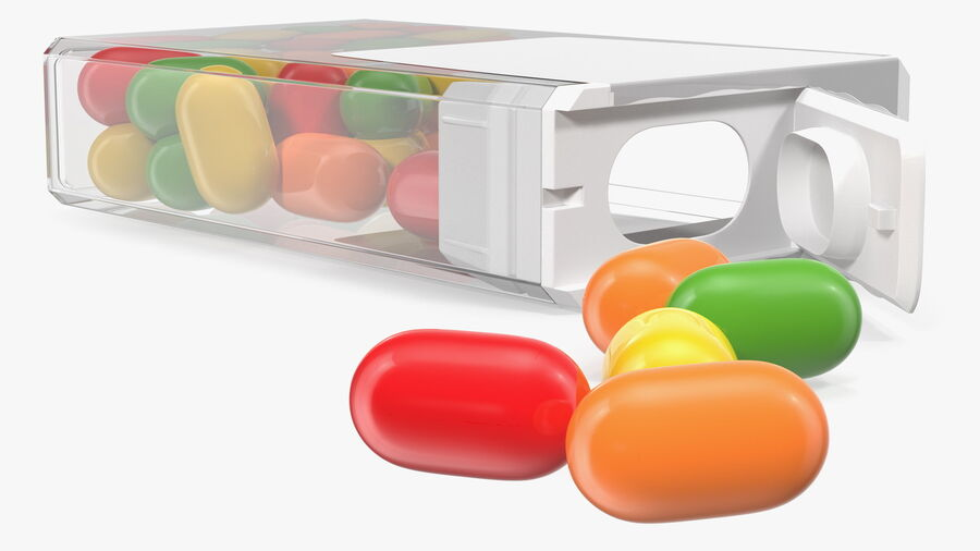 Colorful Candy Mints Spilled royalty-free 3d model - Preview no. 8