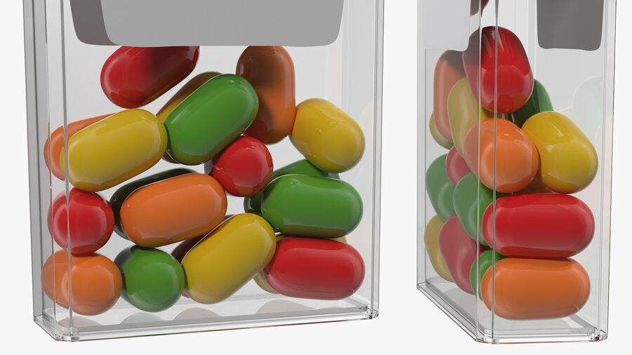 Colorful Candy Mints Spilled royalty-free 3d model - Preview no. 13