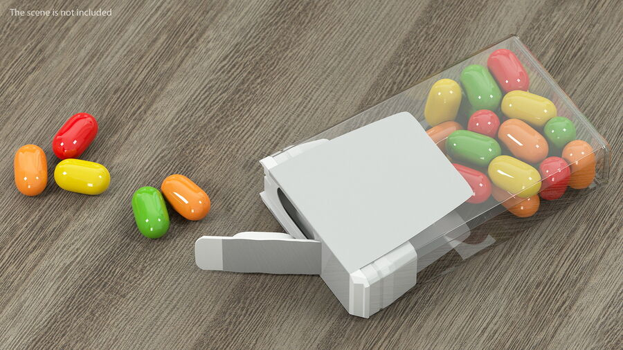 Colorful Candy Mints Spilled royalty-free 3d model - Preview no. 5