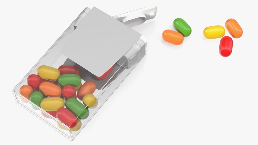 Colorful Candy Mints Spilled royalty-free 3d model - Preview no. 9