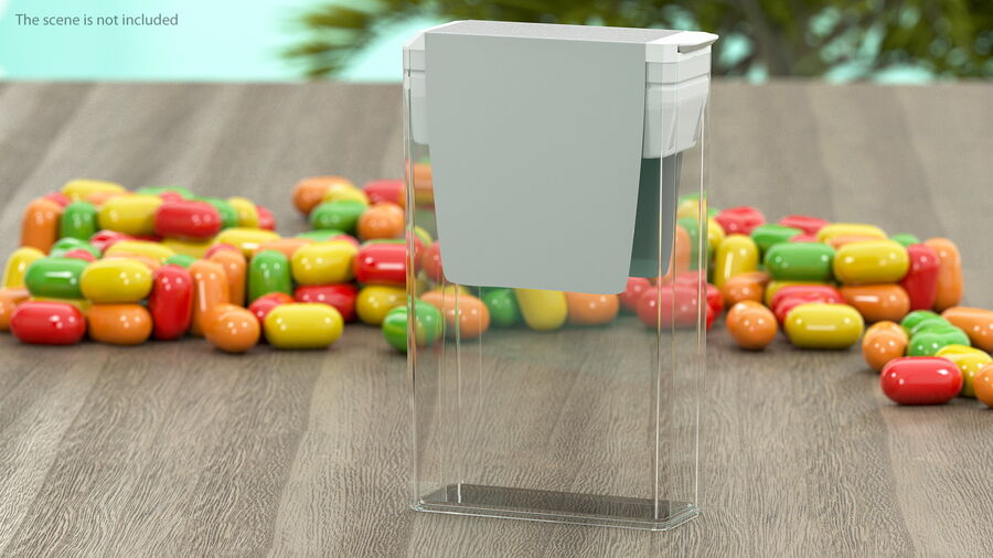 Container with Colorful Dragee royalty-free 3d model - Preview no. 6