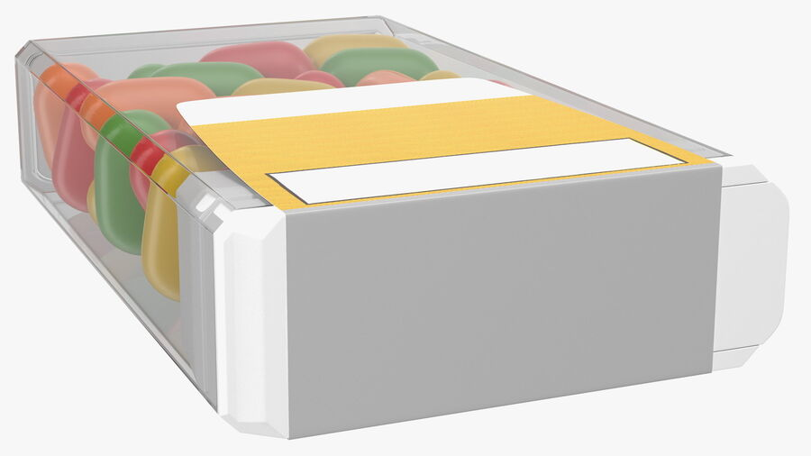 Container with Colorful Dragee royalty-free 3d model - Preview no. 10