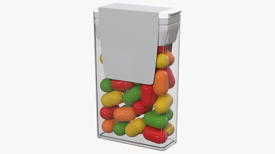 Container with Colorful Dragee royalty-free 3d model - Preview no. 2