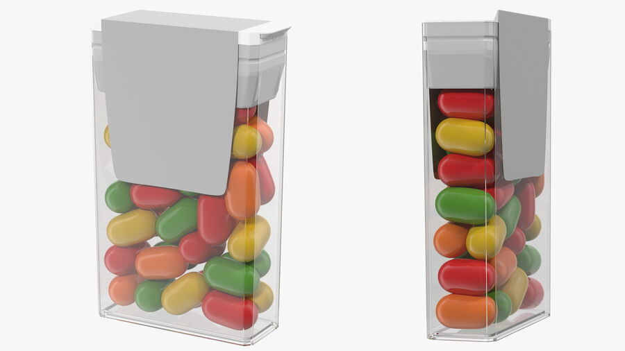 Container with Colorful Dragee royalty-free 3d model - Preview no. 8