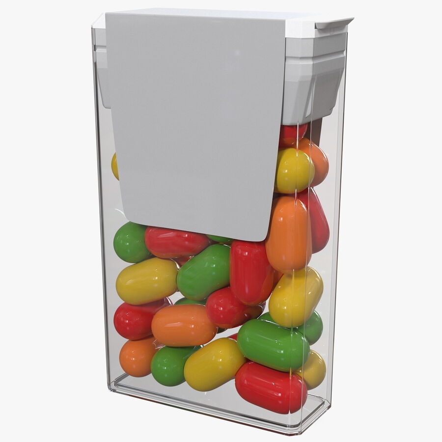 Container with Colorful Dragee royalty-free 3d model - Preview no. 1
