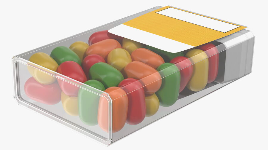 Container with Colorful Dragee royalty-free 3d model - Preview no. 11