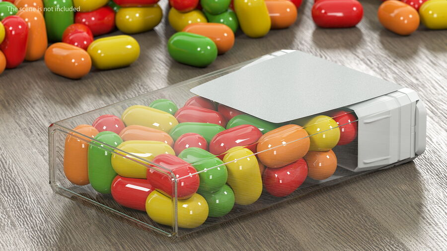 Container with Colorful Dragee royalty-free 3d model - Preview no. 5