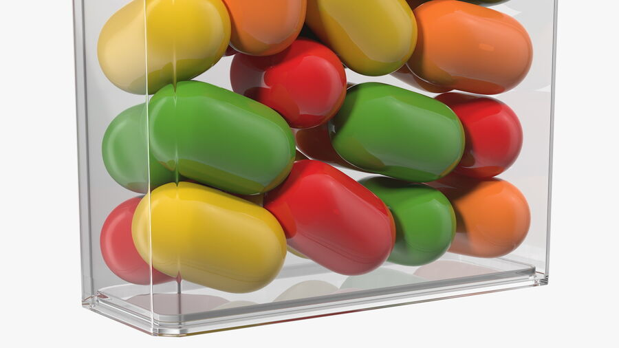 Container with Colorful Dragee royalty-free 3d model - Preview no. 12
