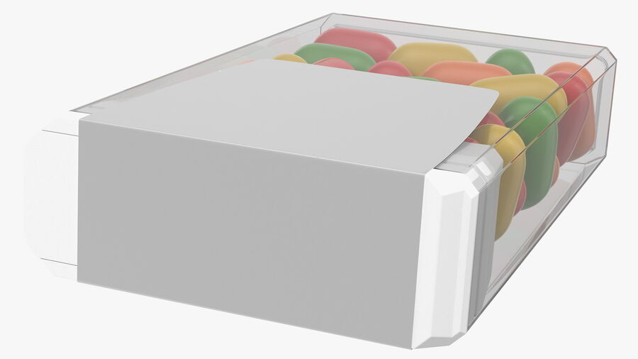 Container with Colorful Dragee royalty-free 3d model - Preview no. 9