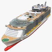 Простые детали круизного лайнера 3d model