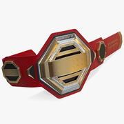 Gold Champion Belt 3d model