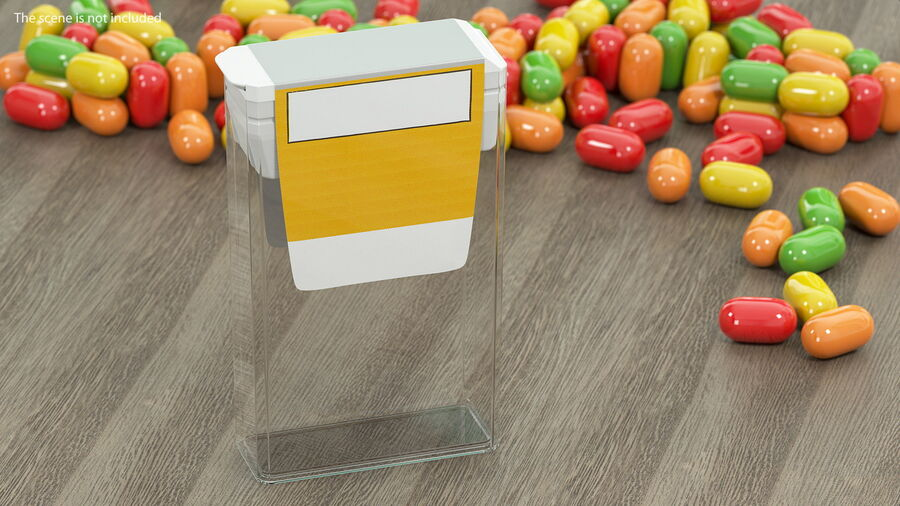 Mint Candy Container royalty-free 3d model - Preview no. 3