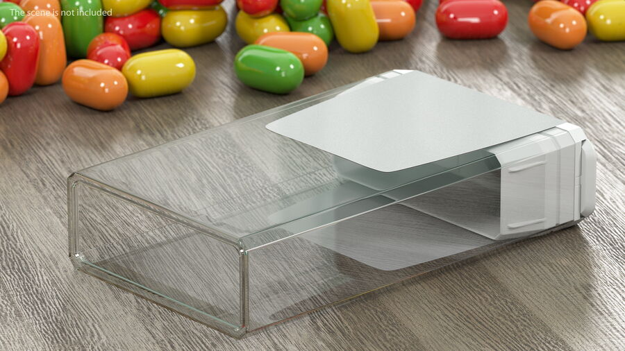 Mint Candy Container royalty-free 3d model - Preview no. 5