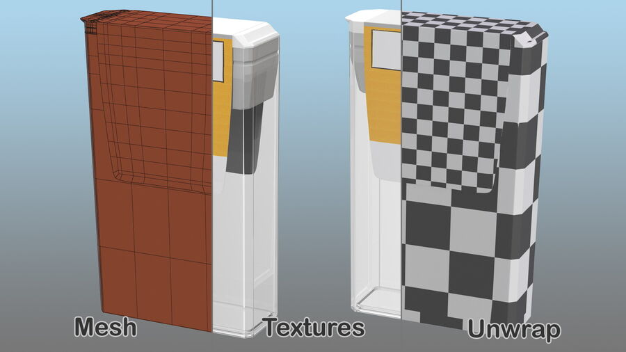 Mint Candy Container royalty-free 3d model - Preview no. 12