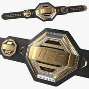 Пояс UFC Legacy Championship лежит на полу 3d model