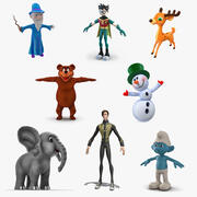 Colección de personajes de dibujos animados 5 modelo 3d