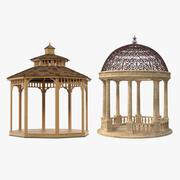 Garden Gazebos Collection 3d model