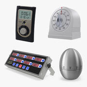 Kitchen Timers Collection 2 3d model