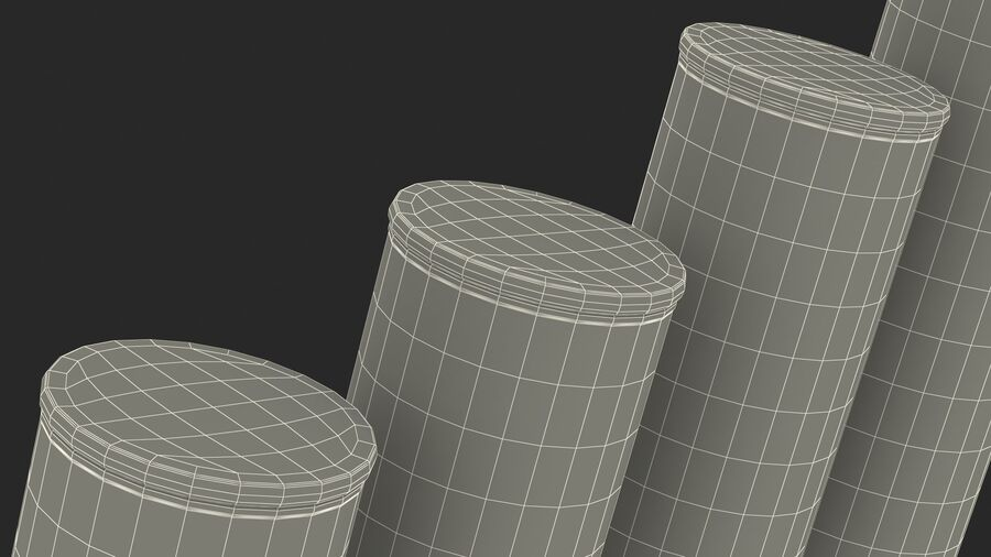Glass Food Storage Jar with Bamboo Lid Set royalty-free 3d model - Preview no. 26