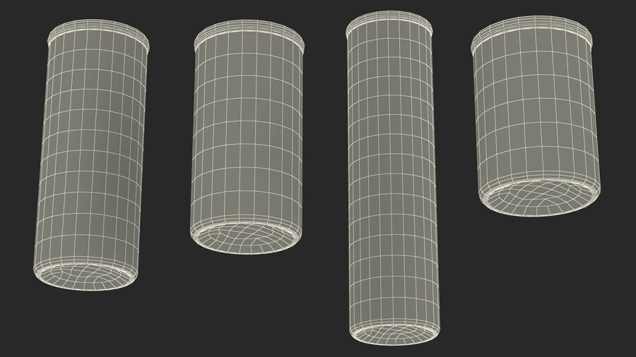 Glass Food Storage Jar with Bamboo Lid Set royalty-free 3d model - Preview no. 28