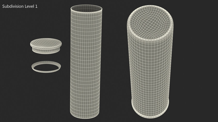 Glass Food Storage Jar with Bamboo Lid royalty-free 3d model - Preview no. 9