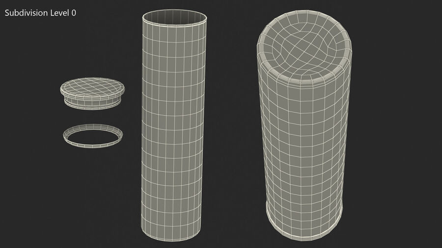 Glass Food Storage Jar with Bamboo Lid royalty-free 3d model - Preview no. 8