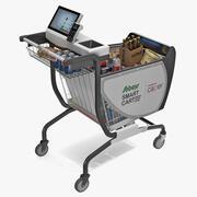 상품이 포함 된 케이 퍼 스마트 쇼핑 카트 3d model