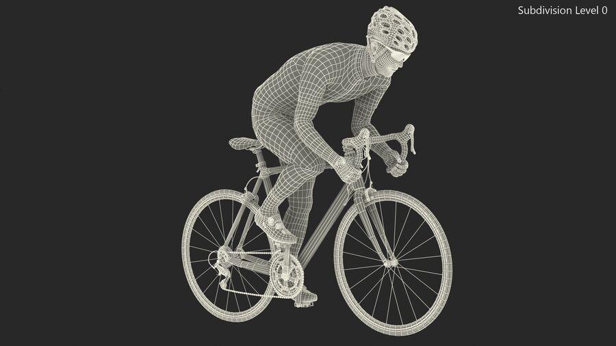Bisikletçi Binme Bisikleti royalty-free 3d model - Preview no. 21
