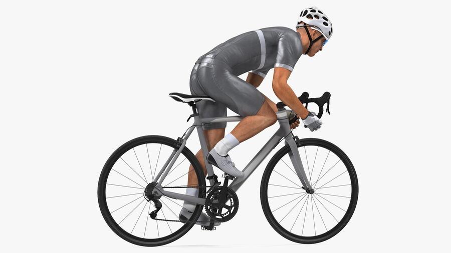 Bisikletçi Binme Bisikleti royalty-free 3d model - Preview no. 8