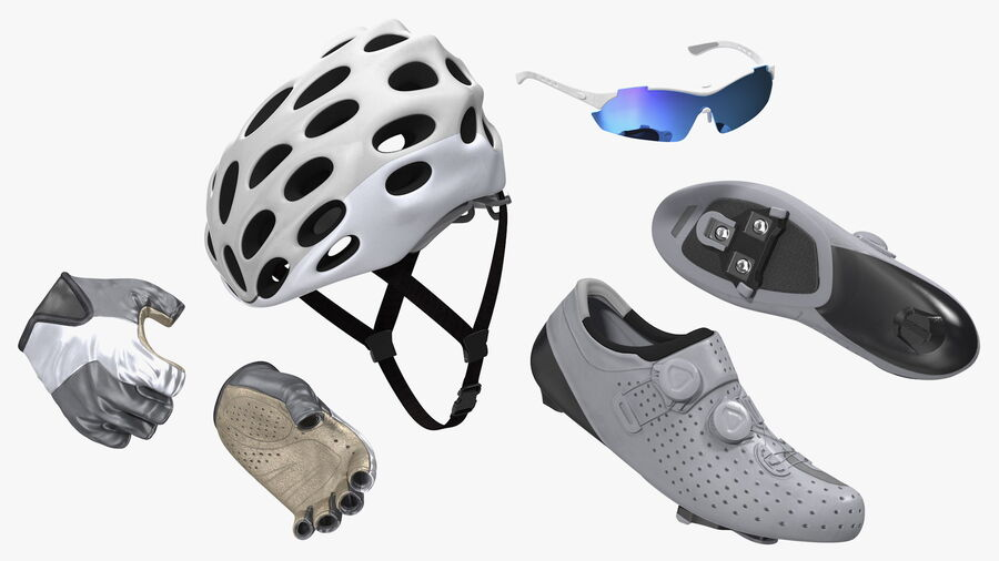 Bisikletçi Binme Bisikleti royalty-free 3d model - Preview no. 10