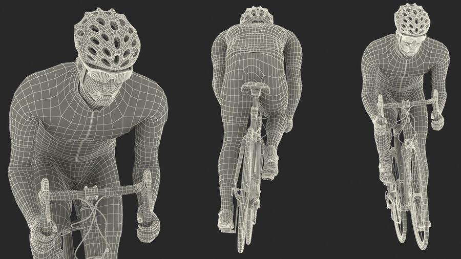 Bisikletçi Binme Bisikleti royalty-free 3d model - Preview no. 27