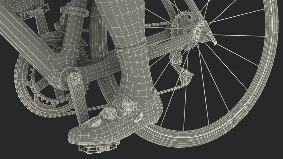 Bisikletçi Binme Bisikleti royalty-free 3d model - Preview no. 30