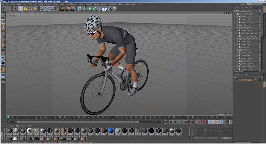 Bisikletçi Binme Bisikleti royalty-free 3d model - Preview no. 33