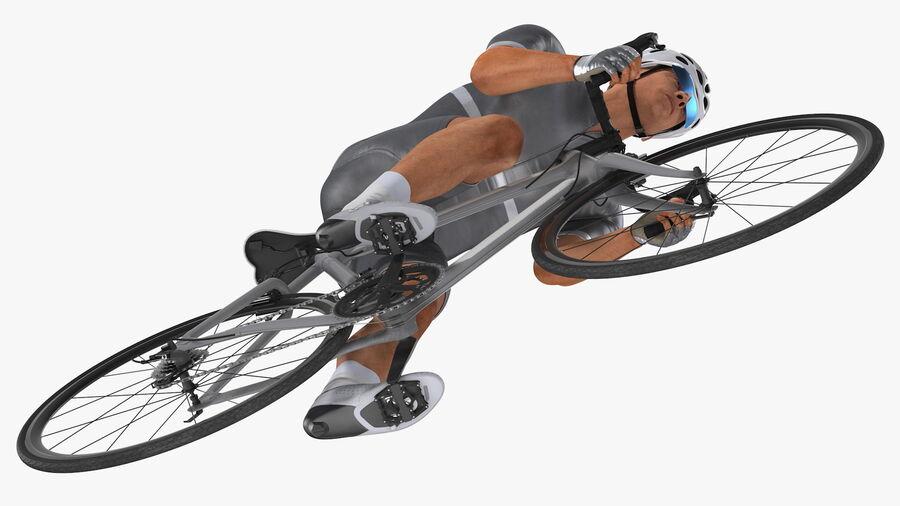 Bisikletçi Binme Bisikleti royalty-free 3d model - Preview no. 19
