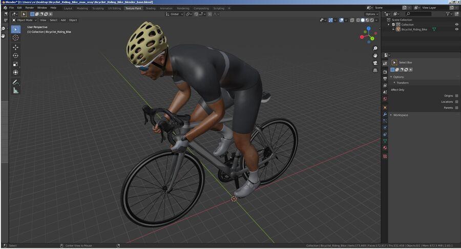 Bisikletçi Binme Bisikleti royalty-free 3d model - Preview no. 32