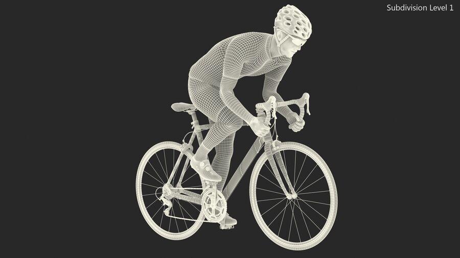 Bisikletçi Binme Bisikleti royalty-free 3d model - Preview no. 22