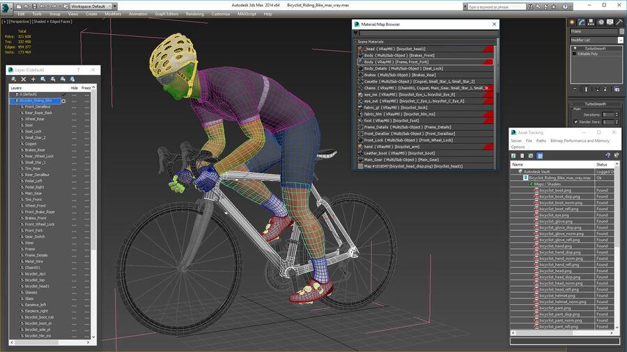 Bisikletçi Binme Bisikleti royalty-free 3d model - Preview no. 26