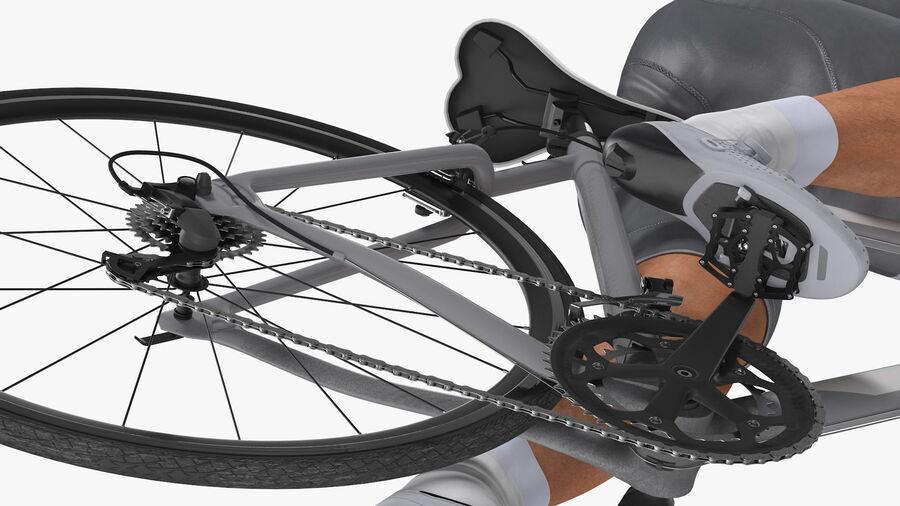 Bisikletçi Binme Bisikleti royalty-free 3d model - Preview no. 17