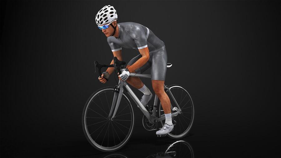 Bisikletçi Binme Bisikleti royalty-free 3d model - Preview no. 3