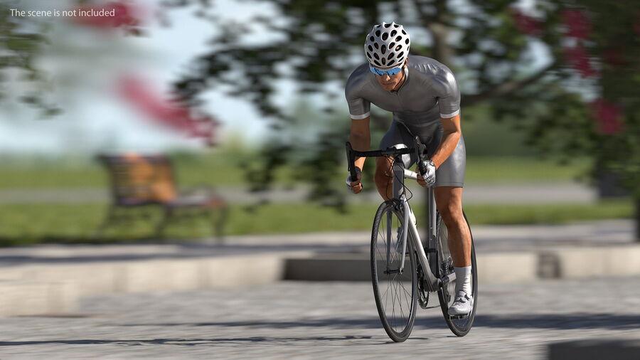 Bisikletçi Binme Bisikleti royalty-free 3d model - Preview no. 5