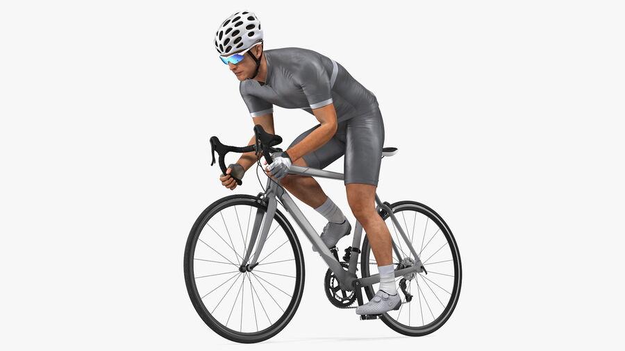 Bisikletçi Binme Bisikleti royalty-free 3d model - Preview no. 2