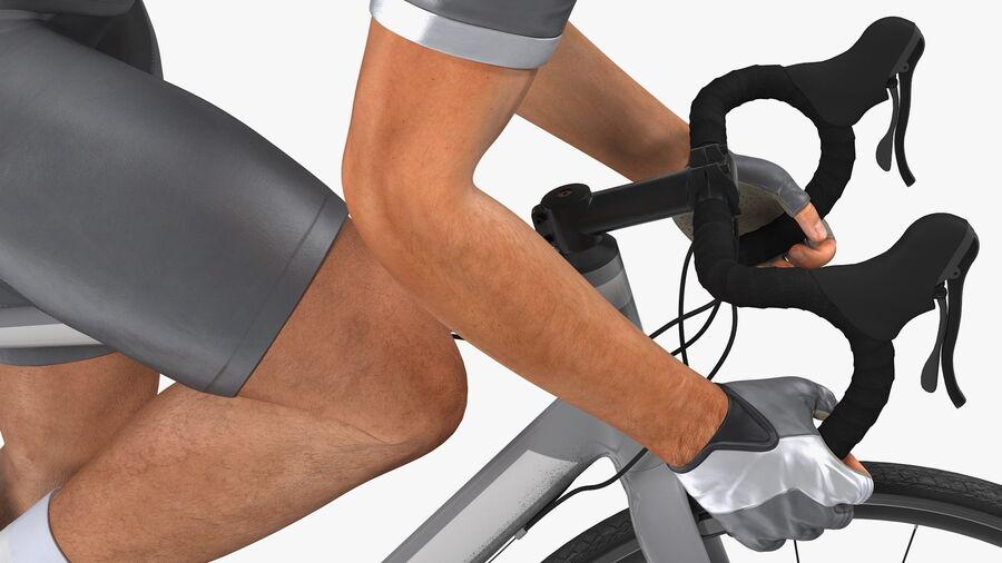 Bisikletçi Binme Bisikleti royalty-free 3d model - Preview no. 14