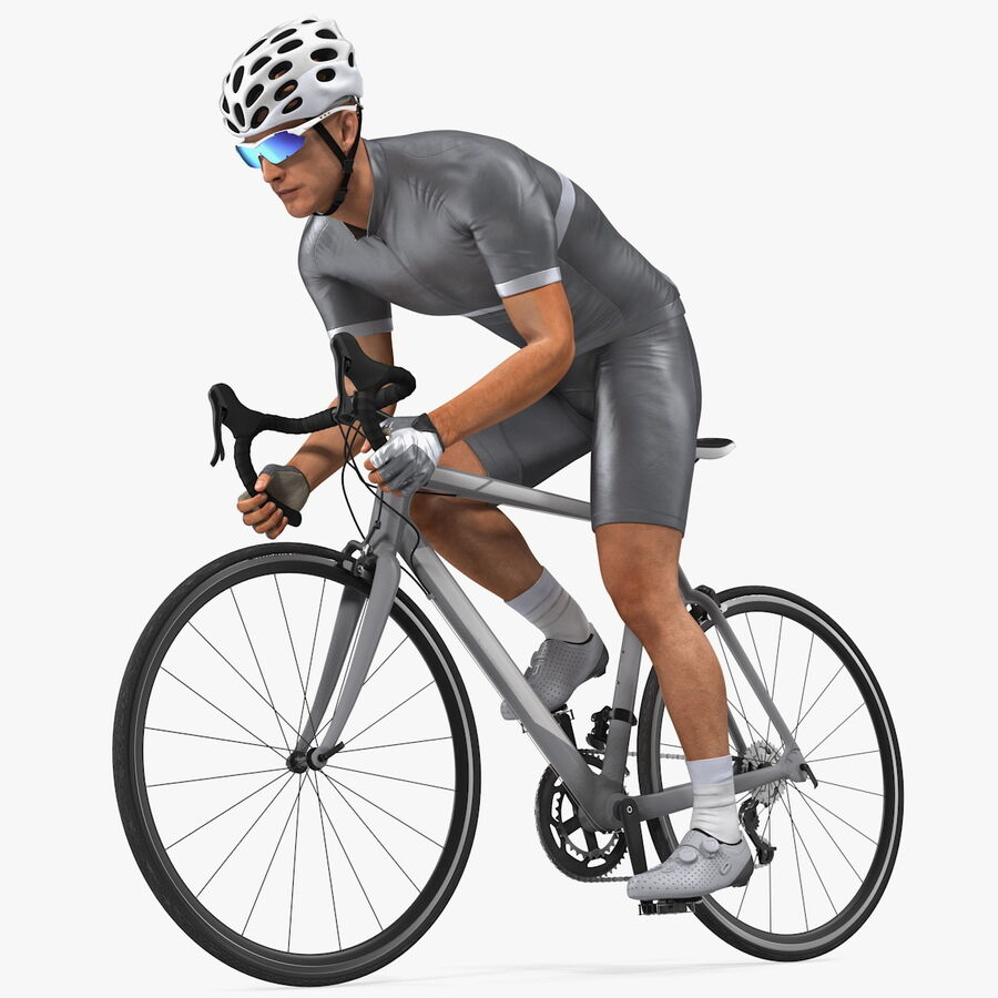 Bisikletçi Binme Bisikleti royalty-free 3d model - Preview no. 1